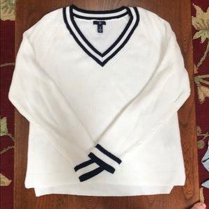 GAP Varsity V-Neck Sweater